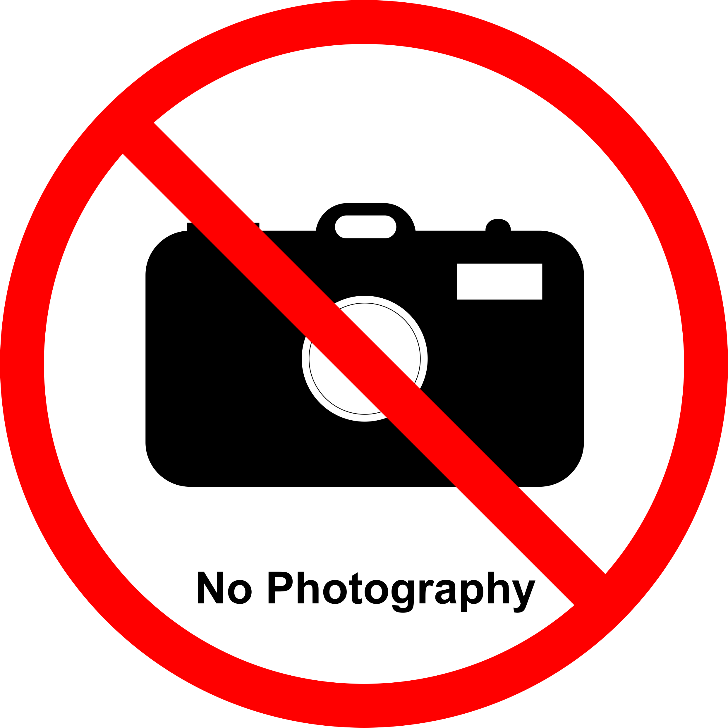 Permission sign for talks and posters at meetings NOT to allow the work to be photographed.
