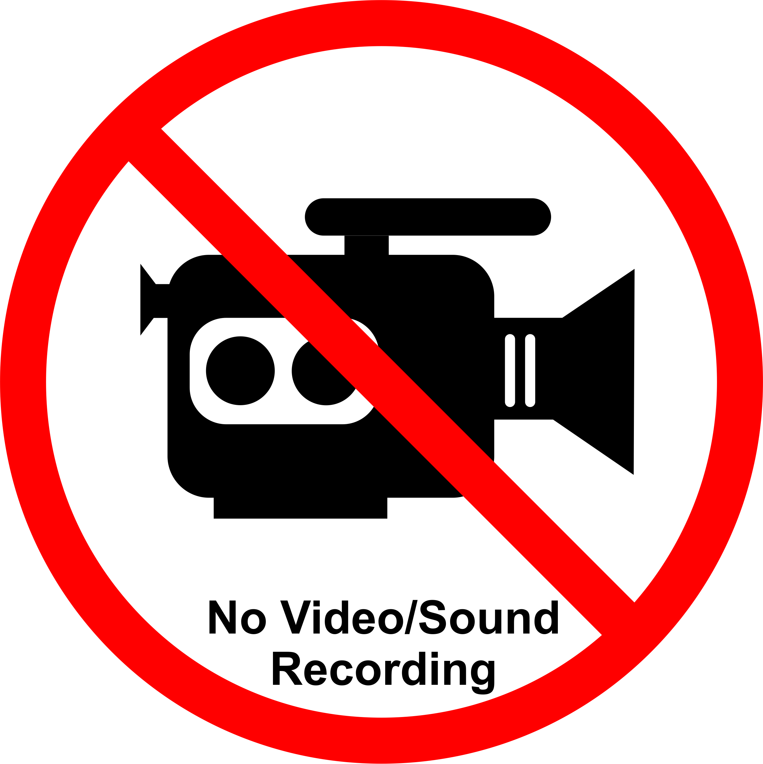 Permission sign for talks and posters at meetings NOT to allow the work to be recorded/streamed.