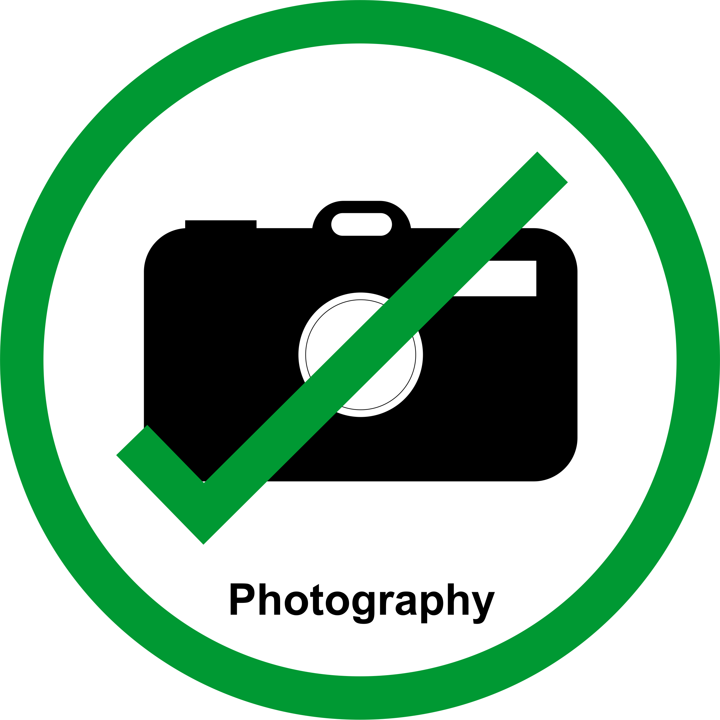 Permission sign for talks and posters at meetings to allow the work to be photographed.