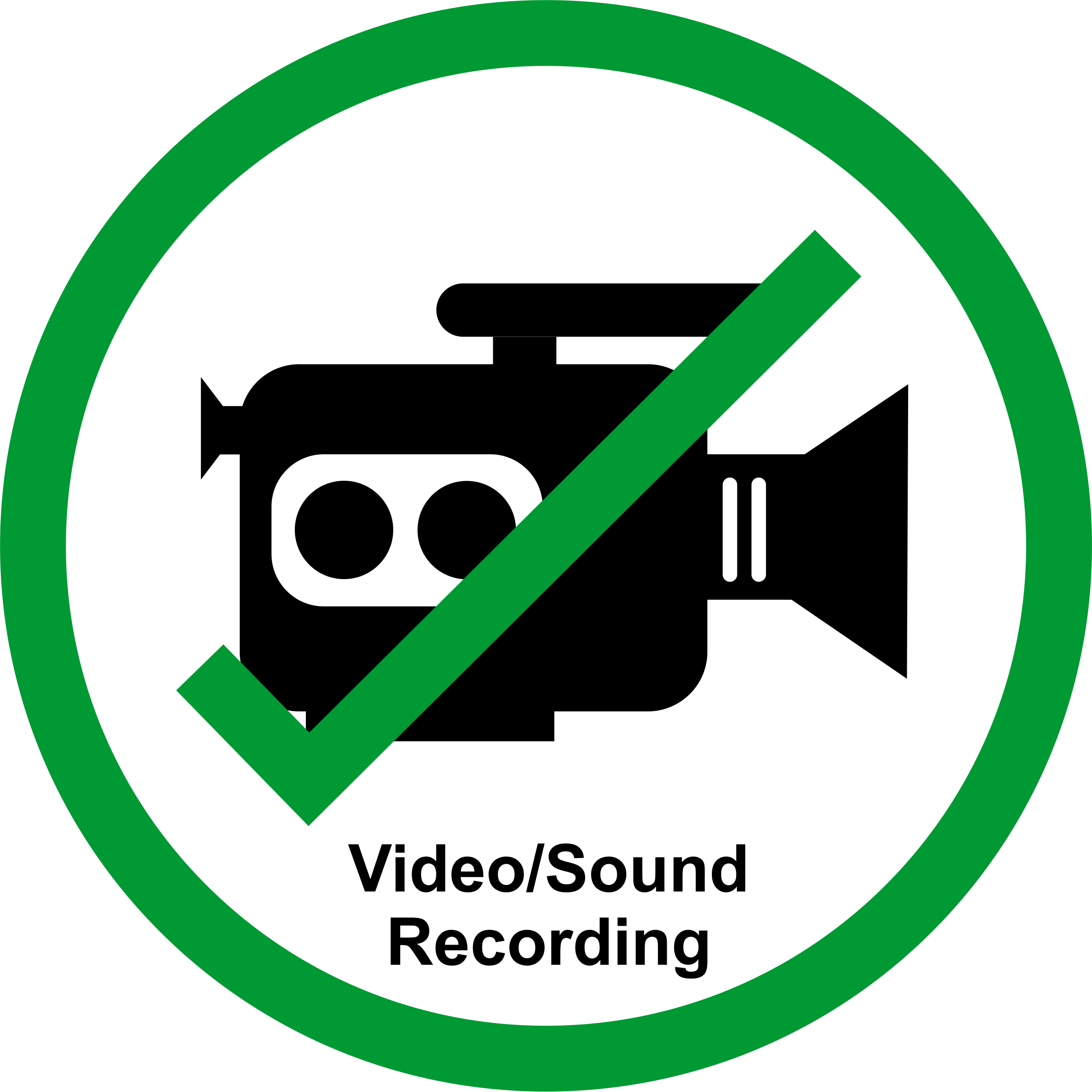 Permission sign for talks and posters at meetings to allow the work to be recorded/streamed.